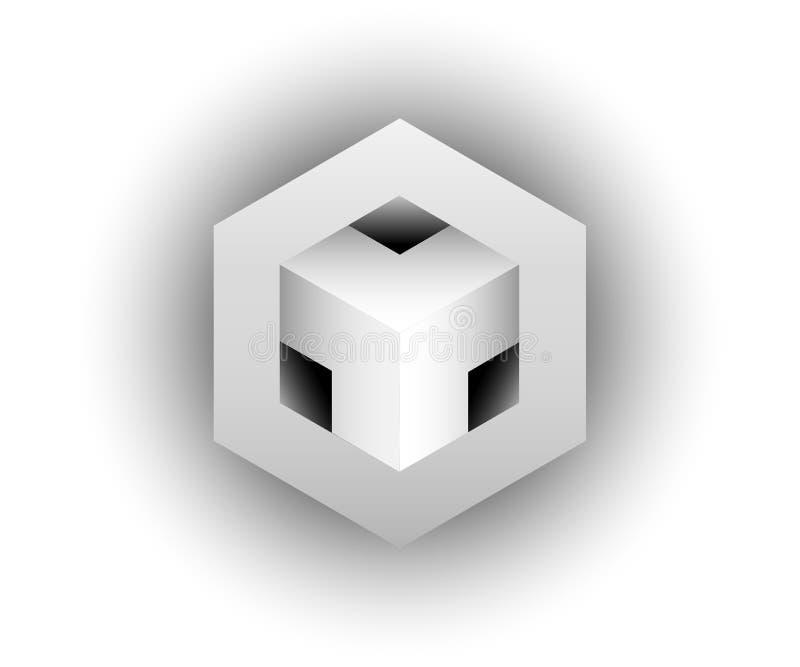 3D Logo Design, este logotipo é apropriado para a empresa, tecnologias do mundo, meios globais e as agências de publicidade, isol ilustração royalty free