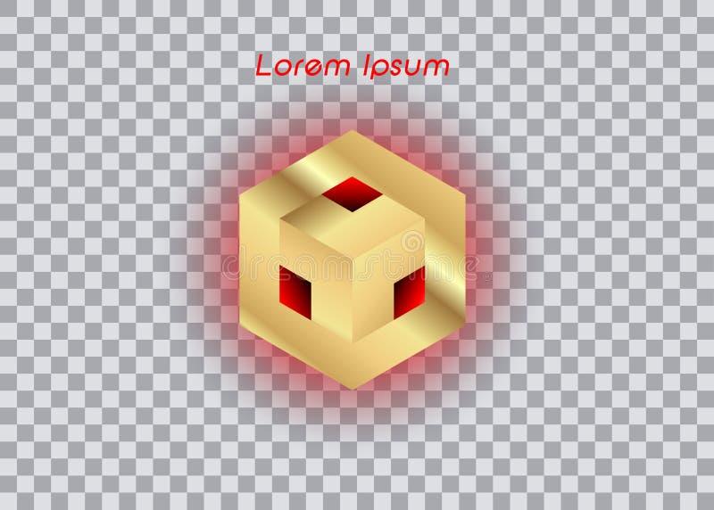 3D Logo Design, este logotipo é apropriado para a empresa, tecnologias do mundo, meios globais e as agências de publicidade, isol ilustração do vetor