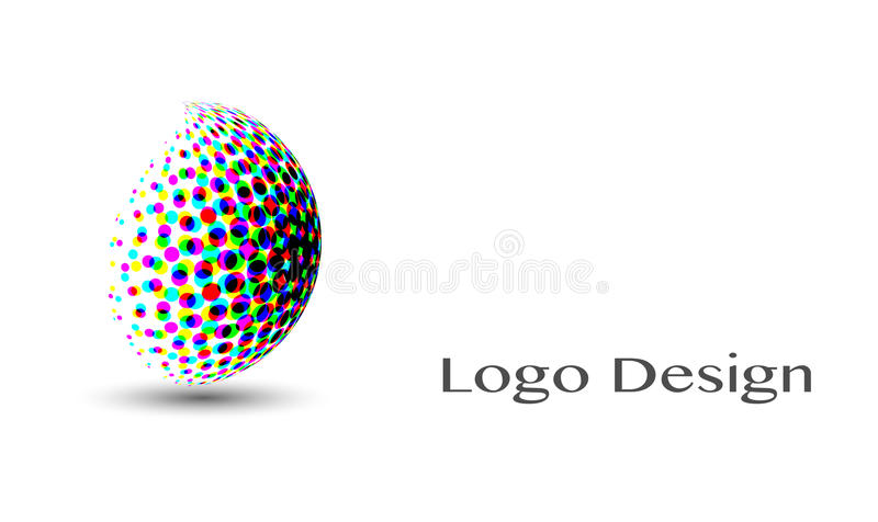 3D Logo Design , this logo is suitable for global company, world technologies, media and publicity agencies. Isolated royalty free illustration
