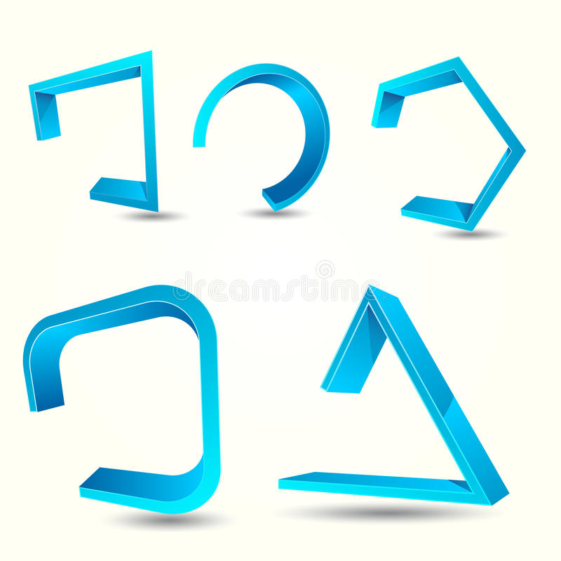 3D Logo Design Shape stock abbildung