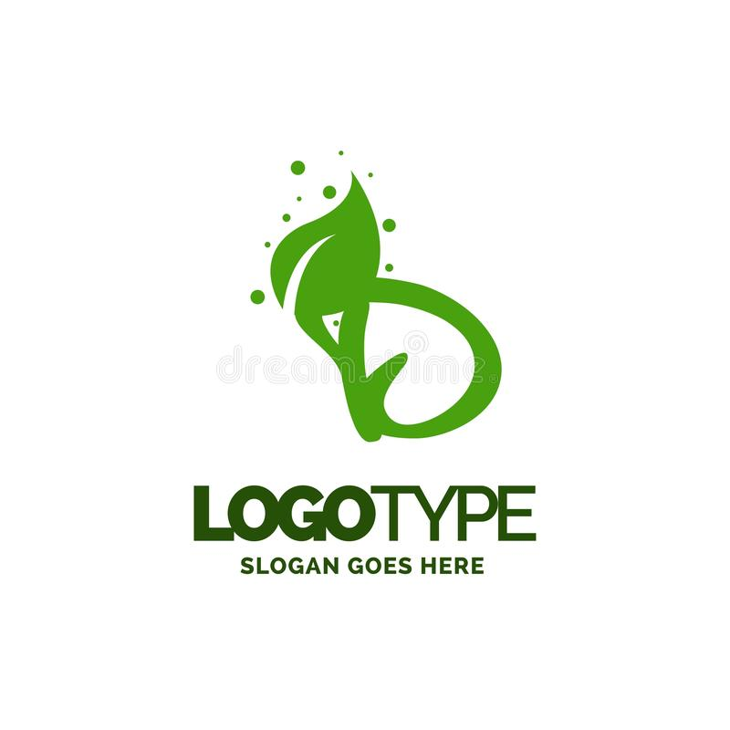 D logo with Leaf Element. Nature Leaf logo designs, Simple leaf. Logo symbol. Natural, eco food. Organic food badges in vector. Vector logos. Natural logos with stock illustration