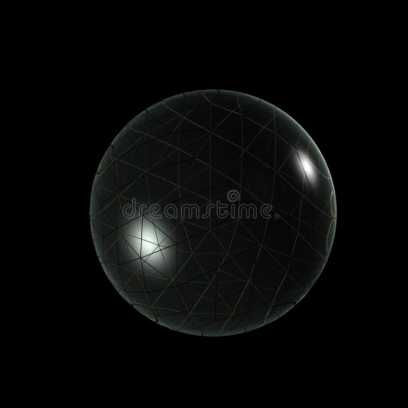 3D Logo Objects Glass Ball