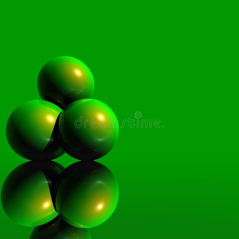 3D Logo Objects Green Balls
