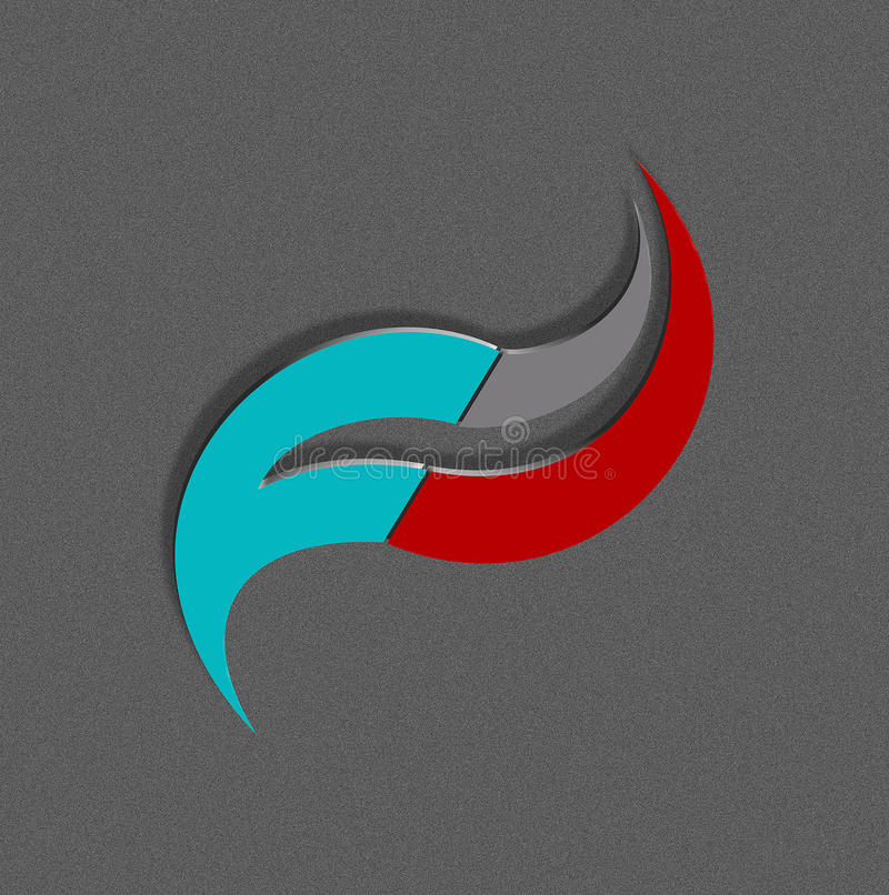 3D Logo. This 3d logo which has 3 colors vector illustration