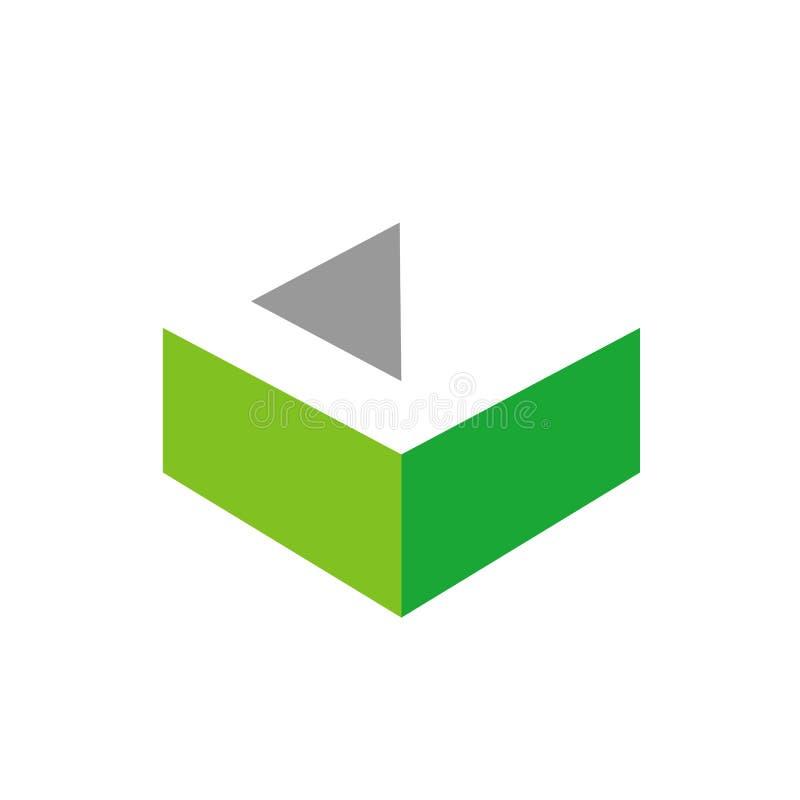 3D logotipo do vetor da letra C, projeto inicial do ícone de C, alfabeto Logo Concept ilustração royalty free