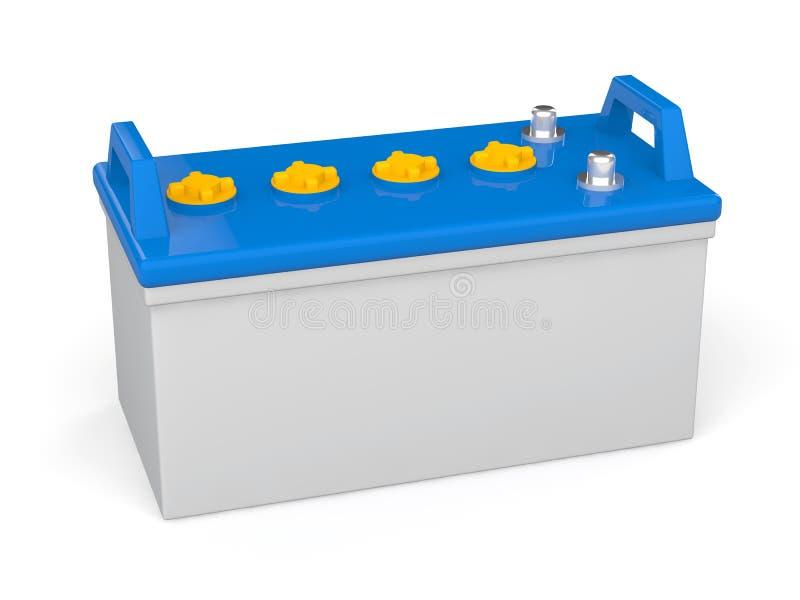 3d lood zure batterij stock illustratie