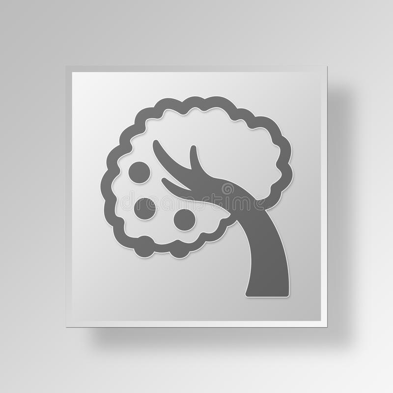 3D Low Hanging Fruit Button Icon Concept vector illustration