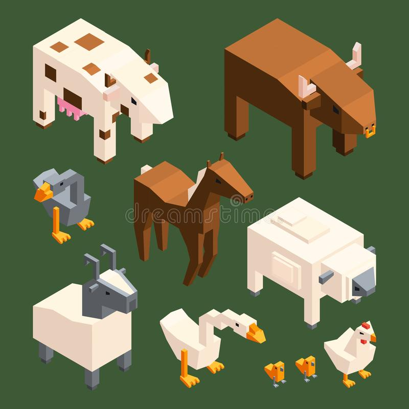 Vector Polygonal Goat Illustration  Stock Vector