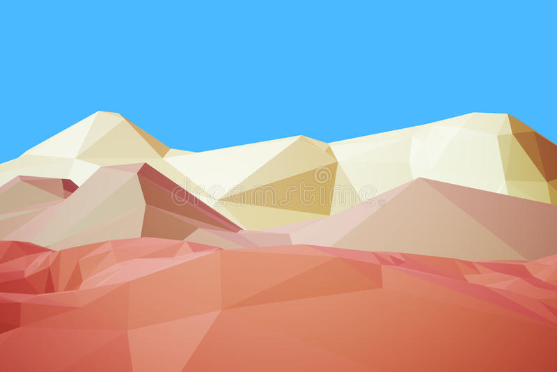 3d low poly Mountain royalty free illustration