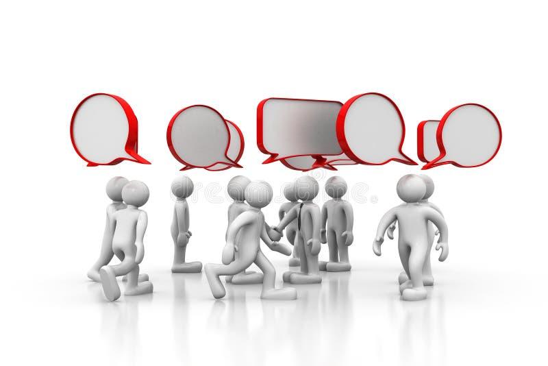 3d ludzie dyskusj ilustracji
