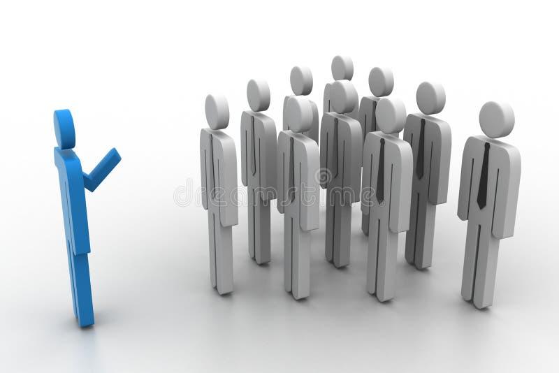 3d ludzie i lider ilustracji