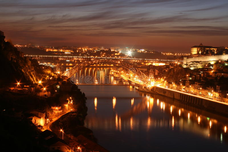 D.Luis eu construo uma ponte sobre - o Porto fotografia de stock royalty free