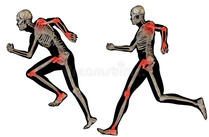 3D mężczyzna bólu ludzka anatomia odizolowywająca ilustracji
