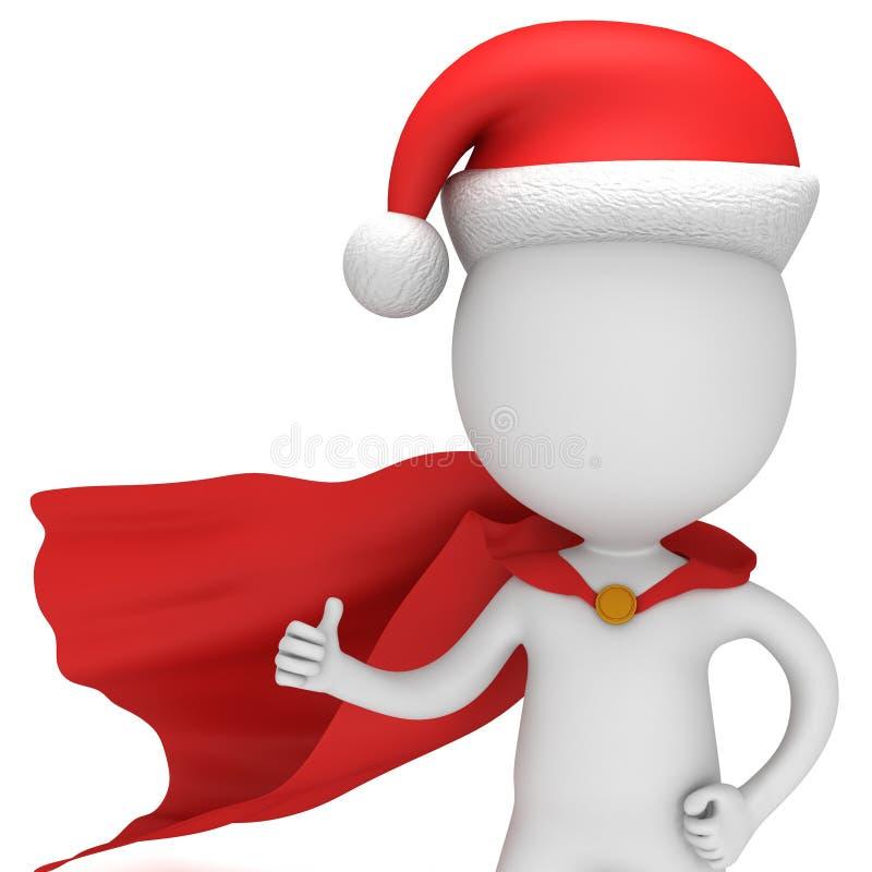 3d mężczyzna - odważny bohater Santa Claus ilustracja wektor