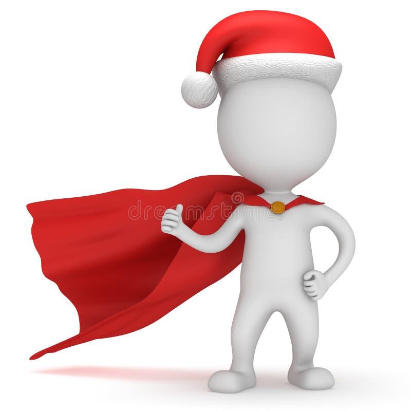 3d mężczyzna - odważny bohater Santa Claus royalty ilustracja