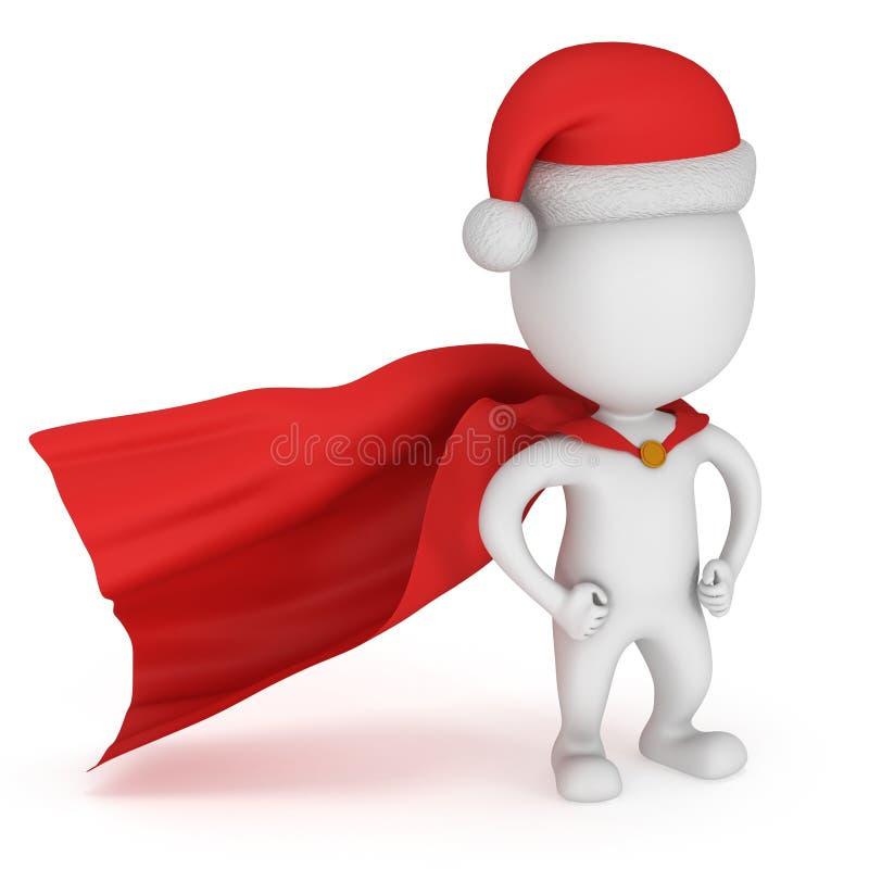 3d mężczyzna - odważny bohater Santa Claus z rękami akimbo ilustracji