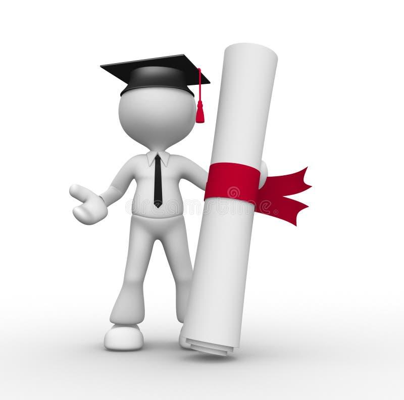 Dyplom ilustracja wektor