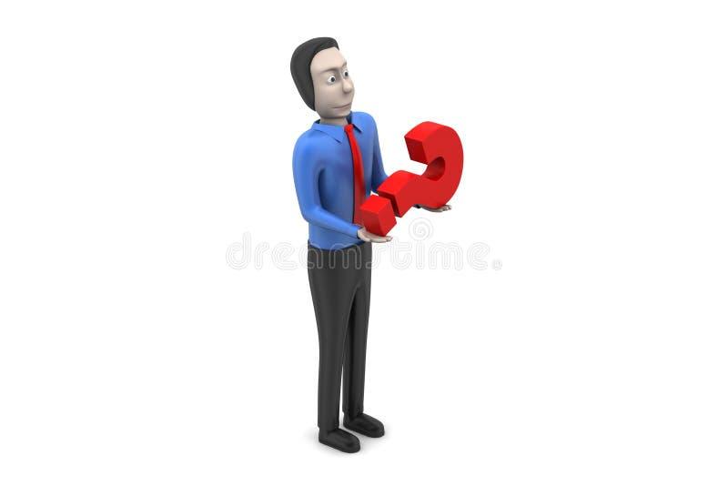 Download 3d mężczyzna w zamieszaniu ilustracji. Ilustracja złożonej z rada - 53778447