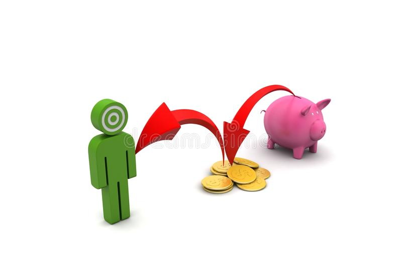 Download 3d Mężczyzna Z Inwestorskim Pojęciem Ilustracji - Ilustracja złożonej z kontrast, księgowość: 53778786