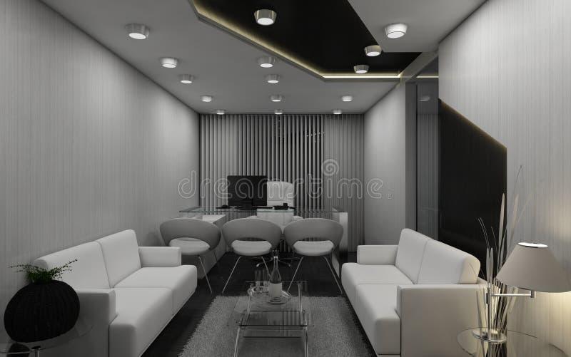3D M.D.zaal stock illustratie