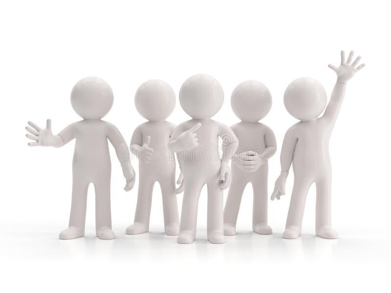 3d mali ludzie - najlepszy grupa royalty ilustracja