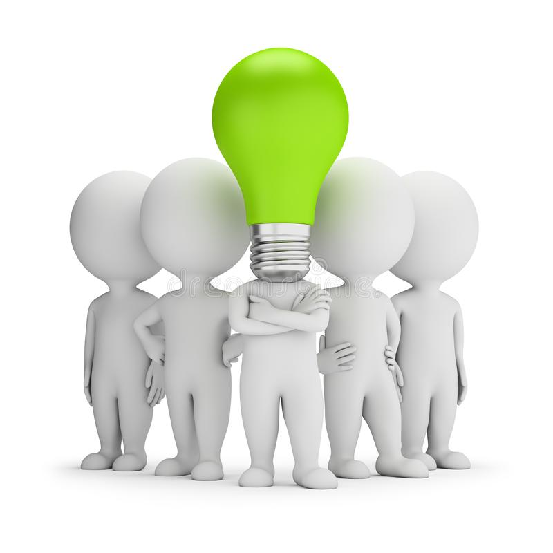 3d mali ludzie - pomysłu lider ilustracji