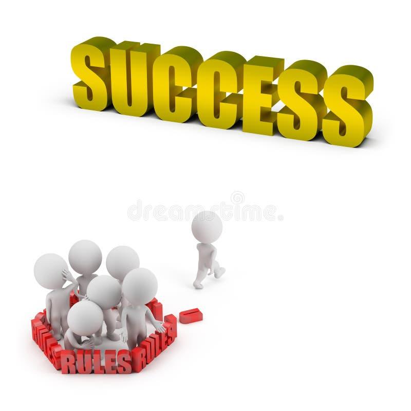 3d mali ludzie - reguły i sukces royalty ilustracja