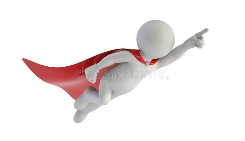 3d mali ludzie - Super mężczyzna ilustracja wektor