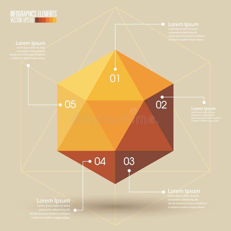 Download 3d Malplaatje Van Meetkundeinfographics Vector Illustratie - Illustratie bestaande uit meetkunde, marketing: 39104863
