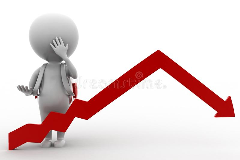 Download 3d Man Arrow  Statics stock illustration. Illustration of white - 43529685