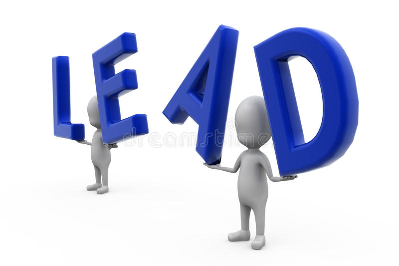 3d man lead concept royalty free stock image