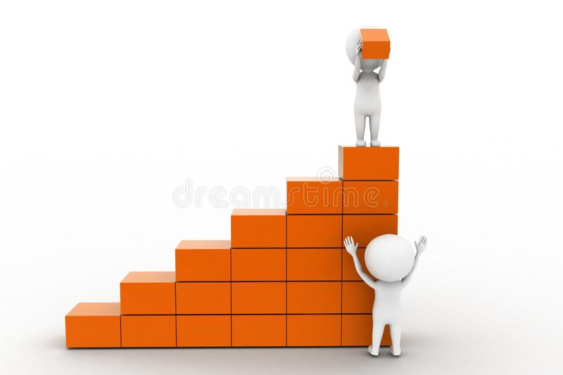 Download 3d man lifting cargo stock illustration. Image of carry - 41674440