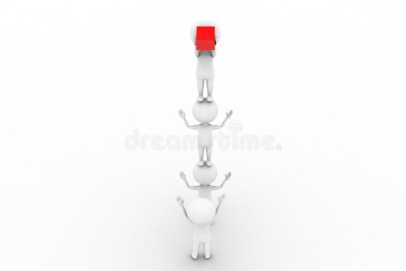 Download 3d man lifting cargo stock illustration. Image of delivery - 41674445