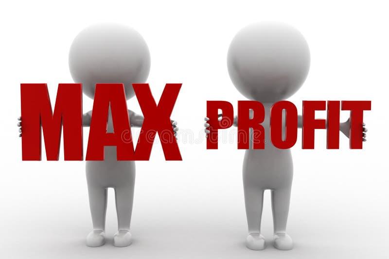 Download 3d Man Max Profit stock illustration. Image of achievement - 43529640