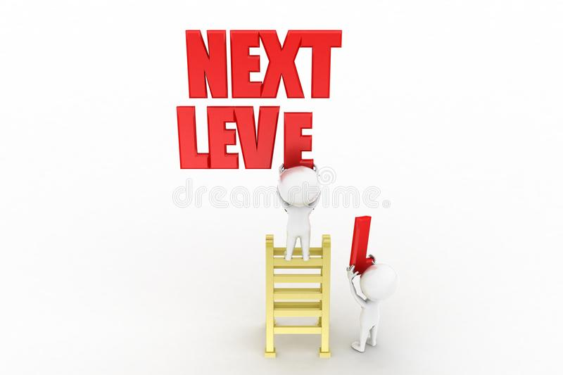 Download 3d man with next level stock illustration. Image of development - 41691754