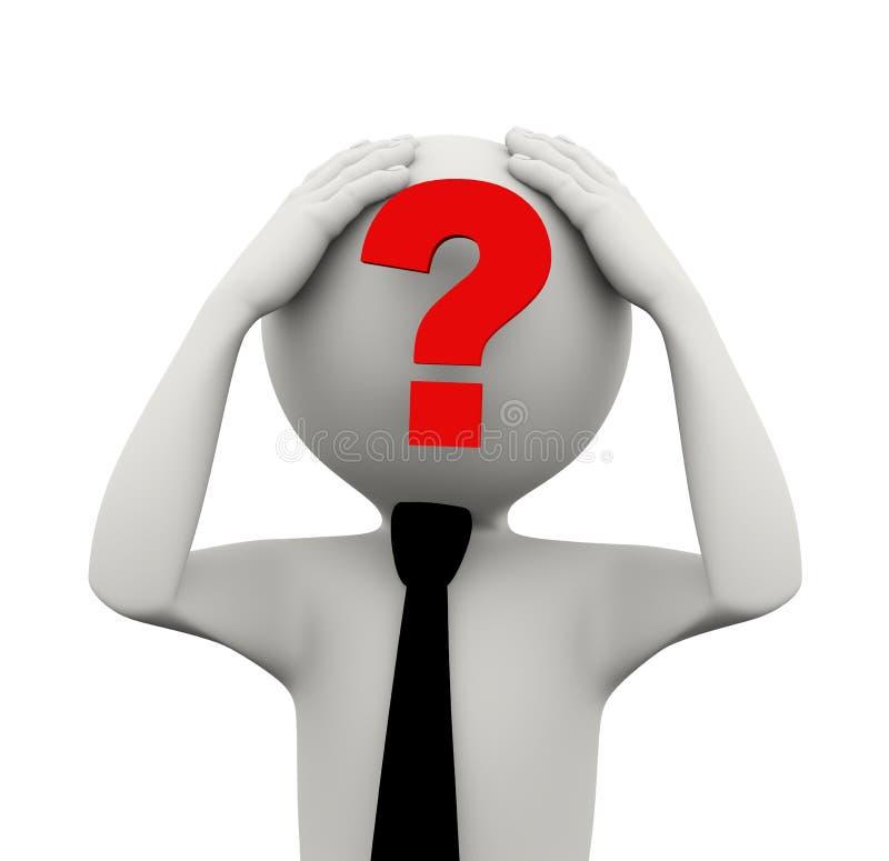 Download 3d man question mark face stock illustration. Image of businessman - 40107089