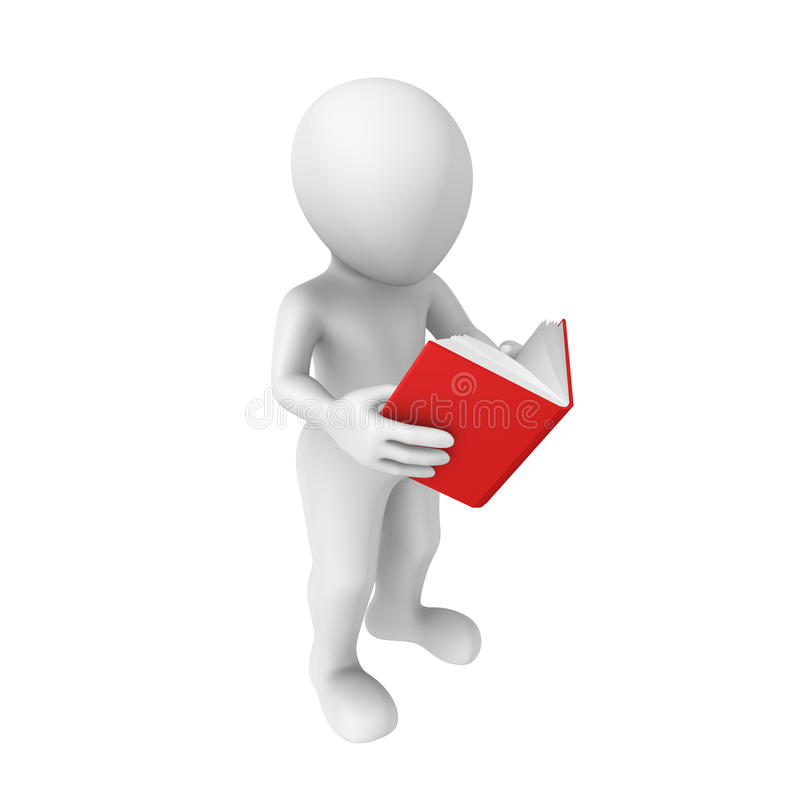 3d person with book royalty free illustration