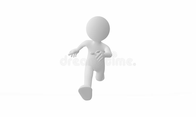 3d man run. Isolated on white background royalty free illustration