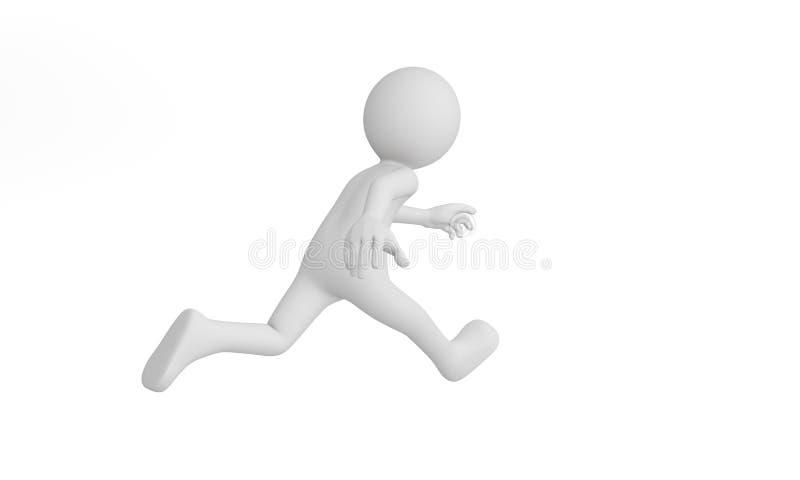 3d man run. Isolated on white background vector illustration