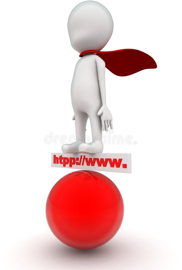 3d man superheld: http www board en red sphere concept royalty-vrije illustratie
