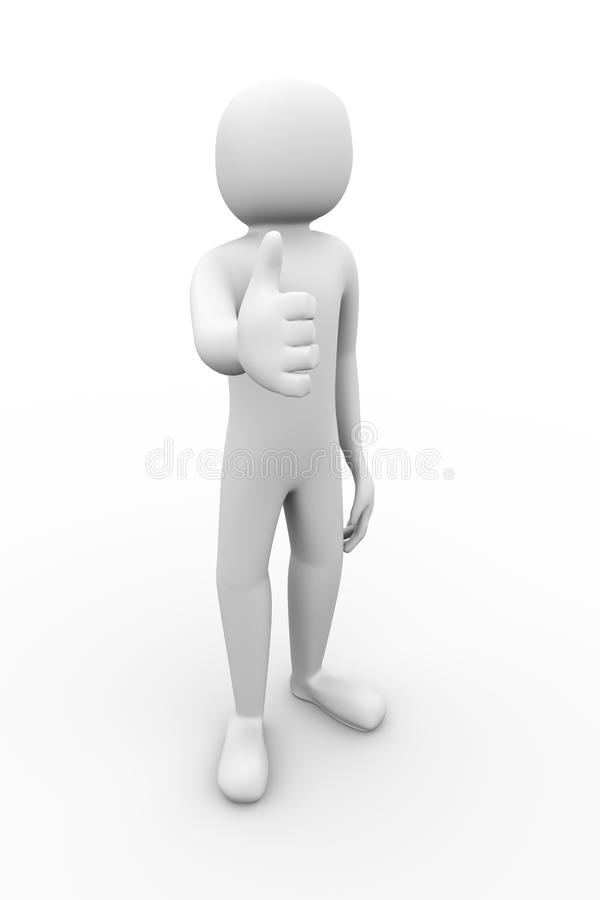Download 3d man thumb up gesture stock illustration. Image of accept - 34653722