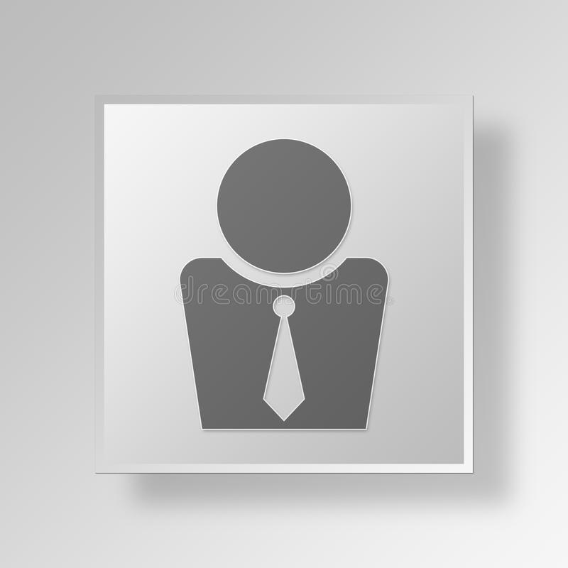 Download 3D Manager Button Icon Concept Stock Abbildung - Illustration von fahne, chef: 90233060