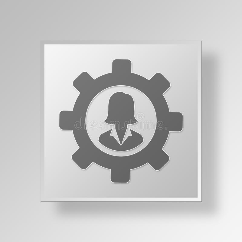 Download 3D Manager Button Icon Concept Stock Abbildung - Illustration von gang, internet: 90233241