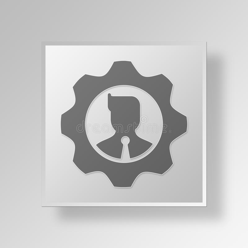 Download 3D Manager Button Icon Concept Stock Abbildung - Illustration von stab, mann: 90233856
