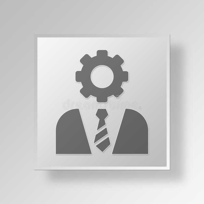Download 3D Manager Button Icon Concept Stock Abbildung - Illustration von weiß, kugel: 90233966