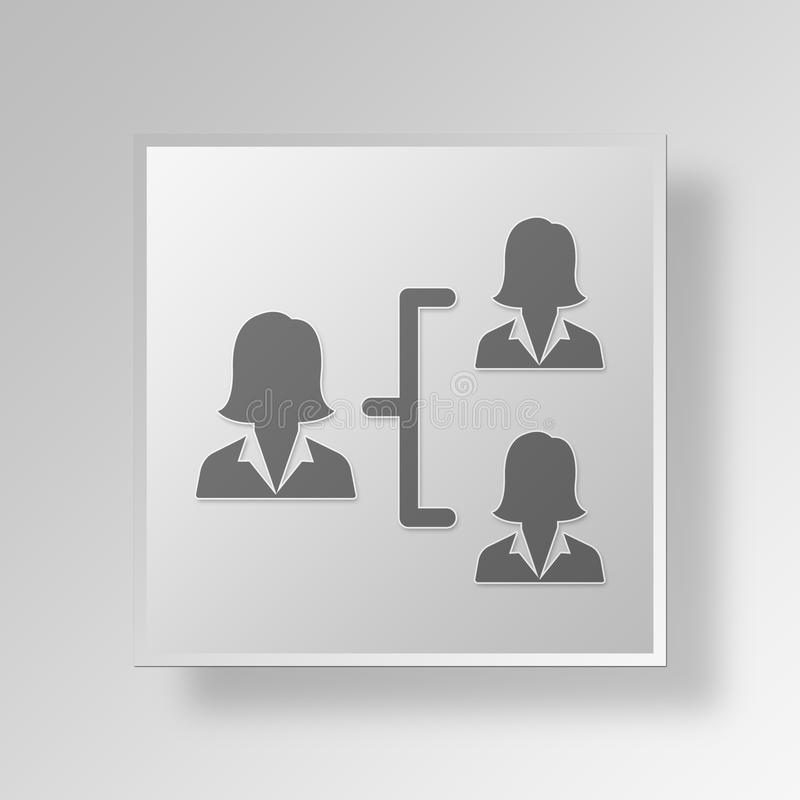 Download 3D Manager Button Icon Concept Stock Abbildung - Illustration von führer, management: 90234014