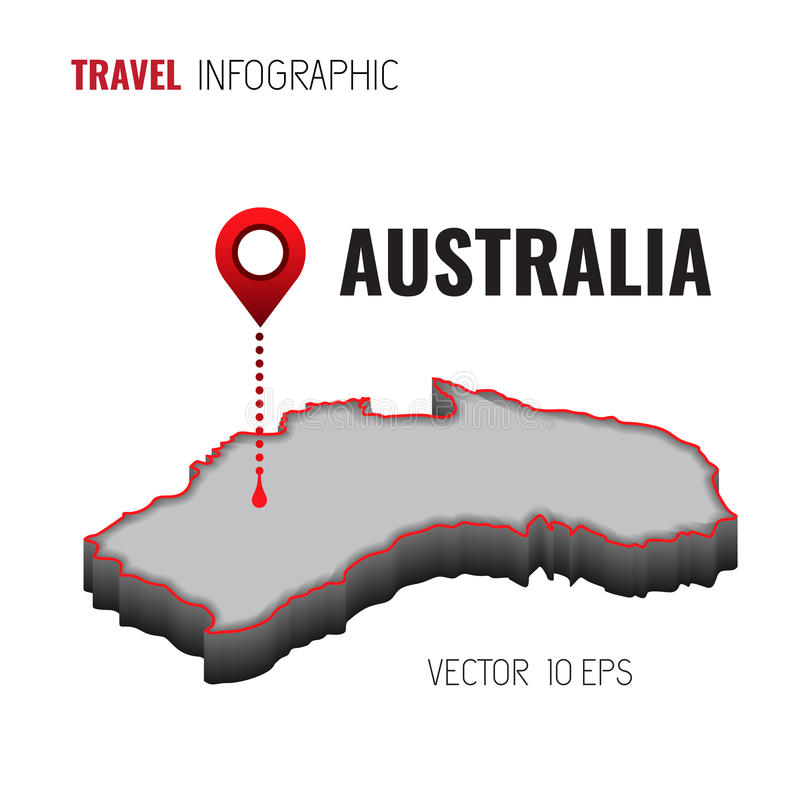 Free 3d Map Of Australia.3d Map Of Australia Gps Navigator Pin Checking Green Color On