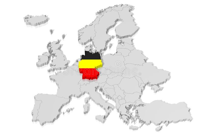 3D map flag Germany stock illustration Illustration of germany