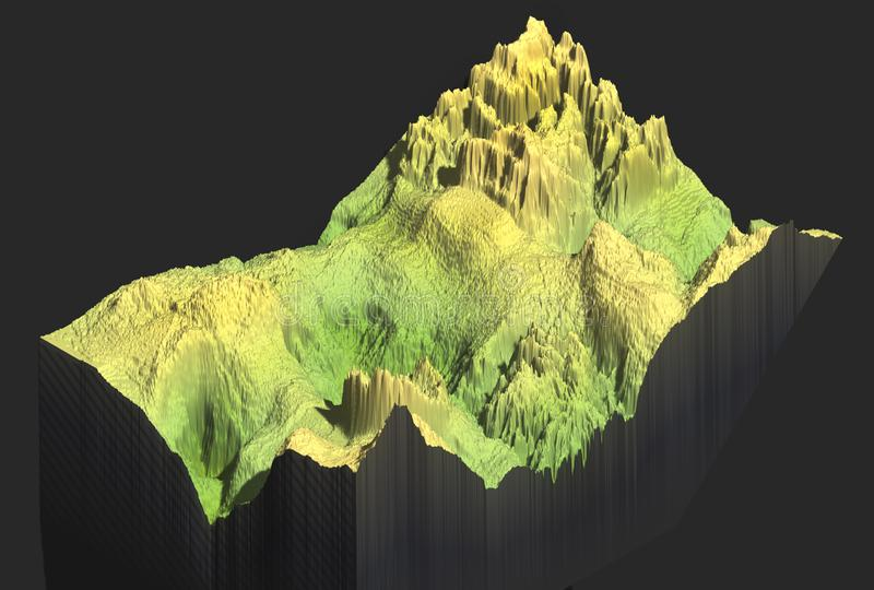 3d map of a mountain stock photos