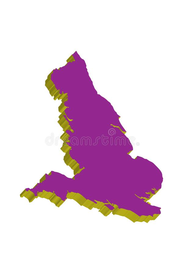 3d Map Of England.3d World Map Illustration London England Stock Illustration